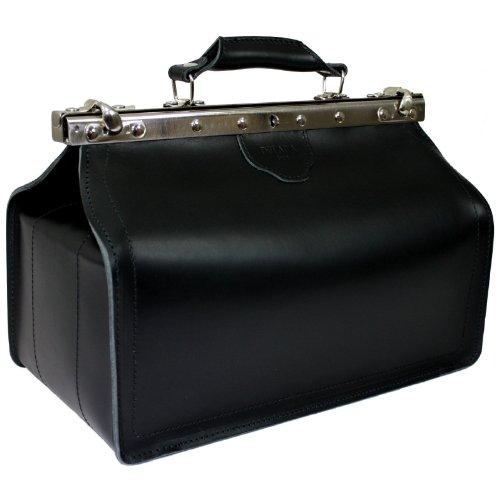 DELARA Arzttasche aus schwarzem Leder - Made in Germany