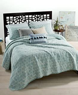 Martha Stewart Whim by Collection Beach Washed Reversible Boardwalk Blue Twin Quilt
