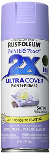 Rust-Oleum 249079 Painter's Touch 2X Ultra Cover, 12 Oz, Satin French Lilac