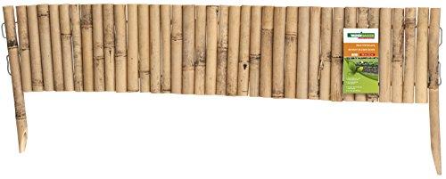 Windhager Beeteinfassung   TYP 3, Steckzaun, Rasenkante, Beetumrandung, Palisade,   Typ3, 35 x 100 cm, 06491