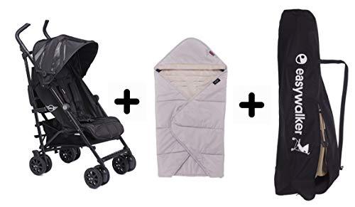 Angebotsset aus dem Easywalker Buggy + LXRY schwarz, dem Easywalker Cocoon und der Easywalker Transporttasche