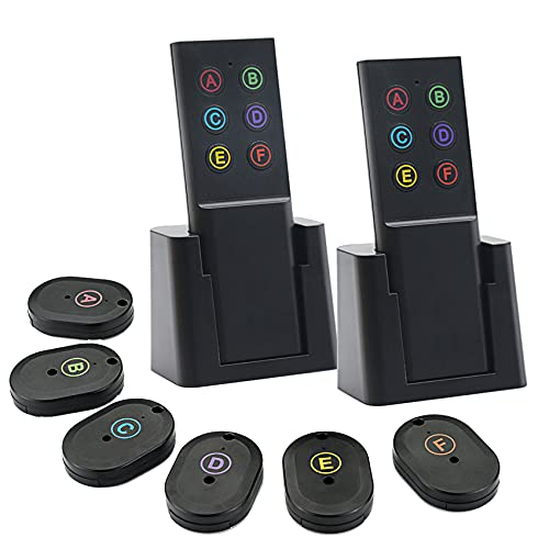 Schlüsselfinder,Wireless Key Finder Alarm,schlüsselfinder anhänger,Haustier peilsender Mini, Portemonnaie Tracker,Tracker Gute Idee für Ihre verlorenen Gegenstände,6 Empfängern und 2 Sender