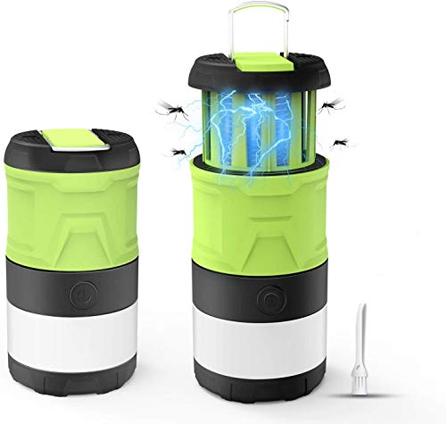 Lámpara camping Linterna LED protección contra mosquitos exterior compacta multi IPX4 impermeable plegable con lámpara de magnética con batería de 2000 mAh, de luz para pesca, senderismo, camping