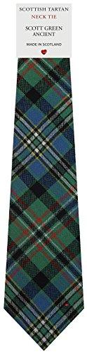 I Luv Ltd Cravate en Laine pour Homme Tissée et Fabriquée en Ecosse à Scott Green Ancient Tartan