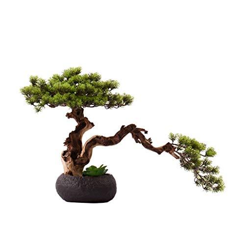 NYKK Bonsai Zen Chino Artificial Cedro, Clubhouse Hotel Tea House Plant Simulation la decoración del hogar, de Estilo japonés Muerto Árbol Artificial Árbol Artificial Bonsai Árbol bonsái Artificial
