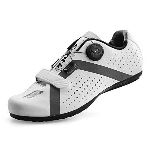 [サンティック] メンズ サイクリング ロードバイク シューズ ノンロック 自転車 超軽量 初心者 2A ホワイト 27.5 cm 2A