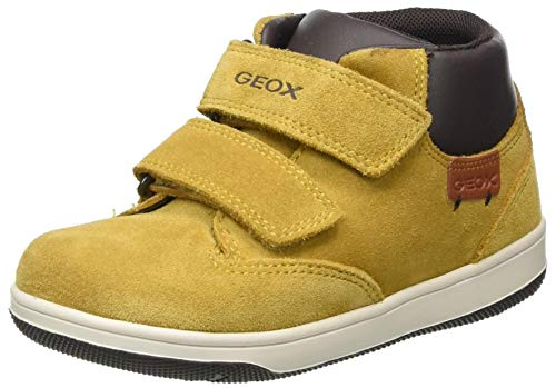 Geox Baby Jungen B NEW FLICK BOY C Ankle Boot, Gelb (Yellow/Coffee), 27 EU