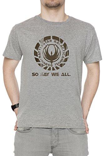 So Say We all Uomo Girocollo T-Shirt Grigio Maniche Corte Tutti Dimensioni Men's Grey