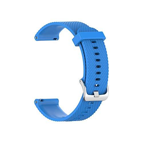 Voghtic 2 correas de reloj de silicona compatibles con Garmin Vivoactive 3/Vivoactive Music Pulsera, 20 mm, textura sólida