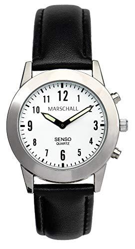 Sprechende Damen-Armbanduhr mit Touch-Funktion MV Lederarmband Senso S-DL