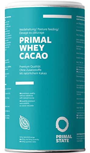 PRIMAL WHEY Protein Kakao - Reines Molkeprotein Aus Irischer Weidehaltung Mit Natürlichem Kakao - 600g Molke Eiweisspulver Cacao