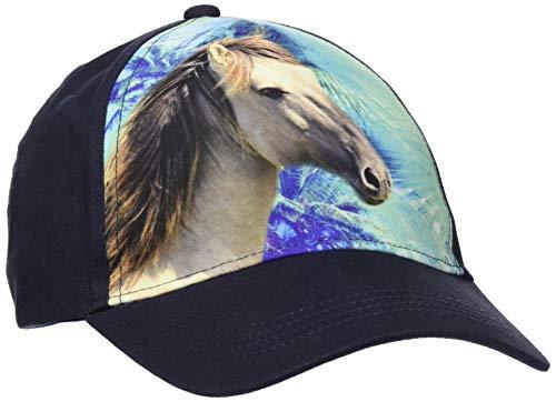 maximo Baby-Mädchen Basecap Pferd Kappe, Blau (Dunkelmarine 11), 49/51