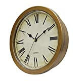 Gazechimp Reloj de Pared Montable de Estilo Vintage con Caja Fuerte Oculta Reloj de Pared Seguro - Color de Madera, Individual
