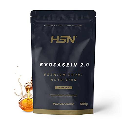 Caseína Micelar de HSN Evocasein 2.0   Proteína para Antes de Dormir   Liberación Lenta de Aminoácidos durante la Noche   No-GMO, Vegetariana, Sin Gluten   Sirope de Arce   500 gr