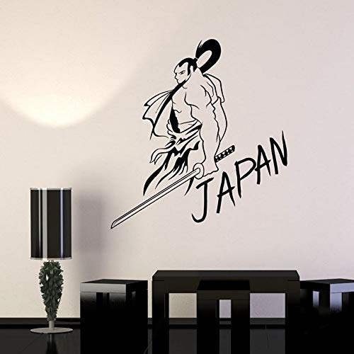 Adesivi Murali Adesivi da Parete Design Moderno Kendo Sticker Samurai Decal Giappone Ninja Poster Vinyl Art Decor Murale 104x113cm