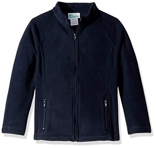 Classroom School Uniforms Big Girls Fitted Polar Fleece Jacket, Dark Navy, M