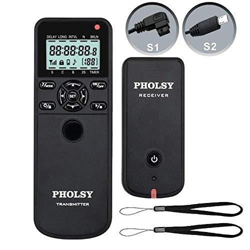 PHOLSY Inalámbrico Temporizador Mando a Distancia Disparador con HDR y Intervalómetro para Sony Konica Minolta Cámaras