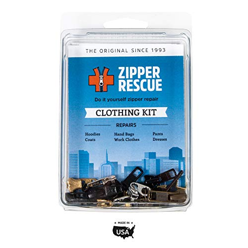 Zipper Rescue Zipper Repair Kits – The Original Zipper Repair Kit, Made in America Since 1993 (Clothing)