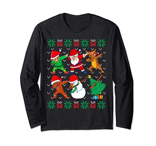Tamponando Natale Brutto Natale Maglione Santa Dab Squad Maglia a Manica