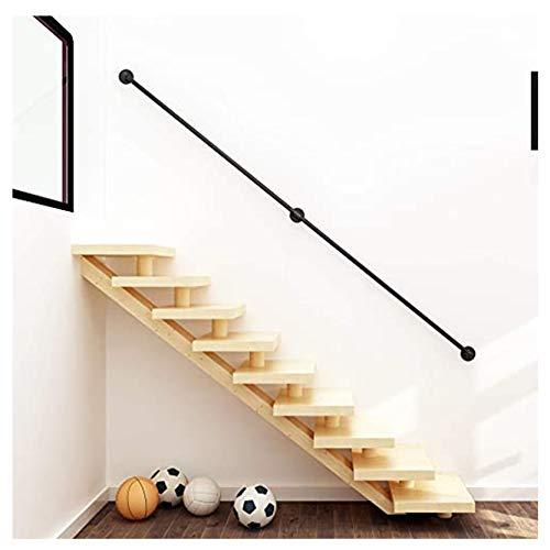 Handläufe MAZHONG Treppenhandlauf Komplettset Wandmontierter Schmiedeeiserner Treppenhandlauf Sichere rutschfeste Korridor-Stützstange Für Innen- Und Außenschwarz(Size:30cm)