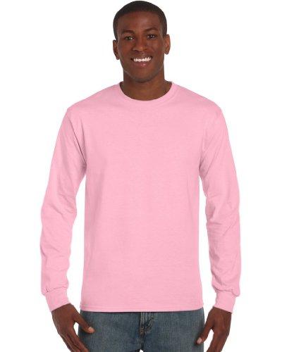 Gildan, t-shirt a maniche lunghe, in Ultra Cotton® Light Pink XX-Large