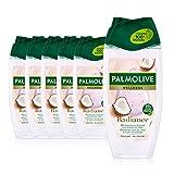 Palmolive Duschgel Wellness Radiance 6 x 250ml - mit Kokosnuss-Extrakt und ätherischen Ölen