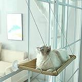 Zrcoo Hamaca de gato para ventana, ventosa para gato, cama para gatos y asiento para mascotas que ahorra espacio, puede contener hasta 17 kg