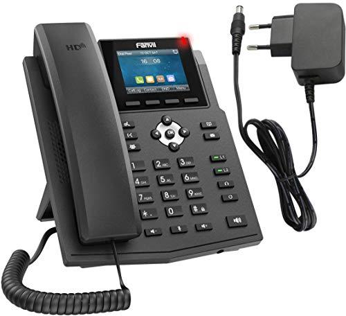 Kompaktes IP Telefon als Set mit Netzteil Adapter, Verwendung an der FritzBox, deutschsprachige Anleitung