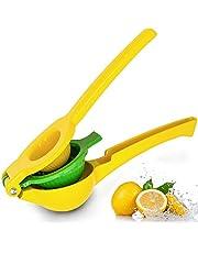 Flybiz Citroenperser, 2 in 1 Presser Juicer voor citroenen/kalk/citrus, aluminiumlegering materiaal met duurzaam ontwerp, sneller vruchtensap, gemakkelijk te reinigen en vaatwasmachinebestendig, handmatige fruitsapcentrifuge keuken