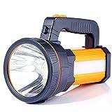 Projecteur portatif à LED super lumineux de poche extérieure de lampe torche 7000 lumens 9000mAh USB rechargeable lampes de...