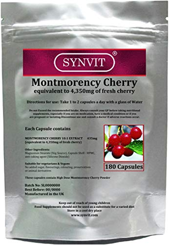 Montmorency Cherry equivalent to 4350mg of fresh Cherries SYNVIT (180)