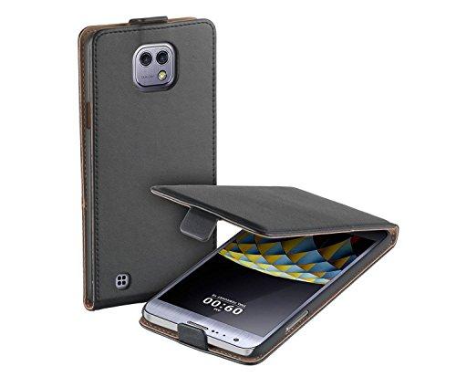 yayago Flip Tasche für LG X Cam Hülle Flip Hülle Schwarz