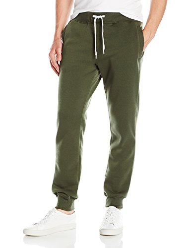 Southpole Men's Active Basic Jogger Fleece Pants, Olive, 2XL