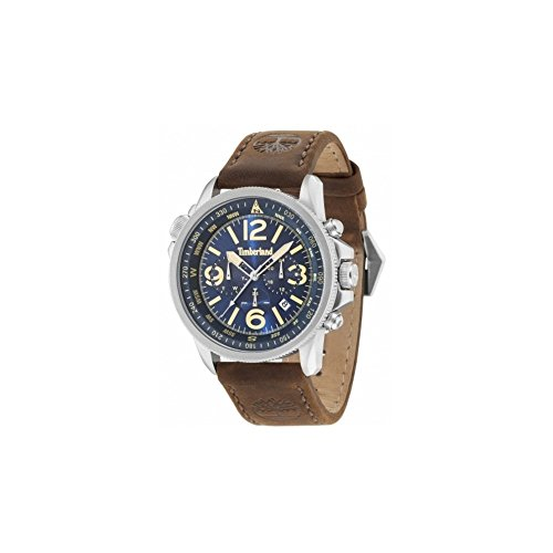 Timberland Reloj Analógico para Hombre de Cuarzo con Correa en Cuero TBL15129JS.03