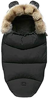 Bunting Bag for Baby Strollers | Baby Sleeping Bag for Stroller Car Seat | Adorable Warm Infant Bunting Bag for Swaddling (Black)