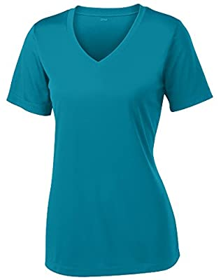 Opna Women's Short Sleeve Moisture Wicking Athletic Shirt, Medium, Tropical Blue