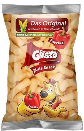 2 Packungen a 100g Gusto Pufuleti Maisflips mit Paprikageschmack