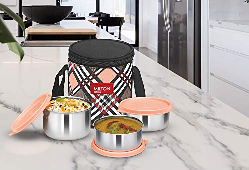 Milton Smart Meal Lunch Box, Set of 3, Orange