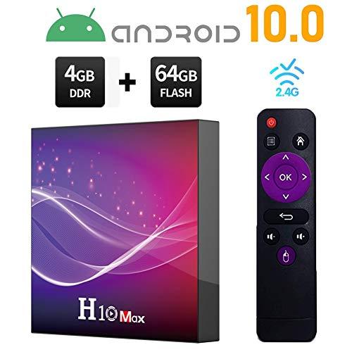Read About Dnyker Android 10.0 TV Box, Smart TV Box 4GB RAM 64GB ROM, HD 6K 2.4G WiFi BT4.0 1000M,St...