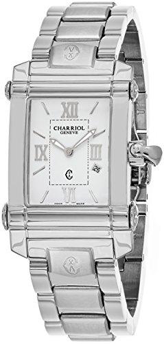 Charriol Women's Columbus Swiss-Quartz Watch with Stainless-Steel Strap, Silver, 18 (Model: CCSTRH.920.830)