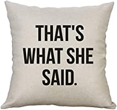 LEVOSHUA The Office TV Show Michael Scott That's What She Said Quote Pillow Case Cover