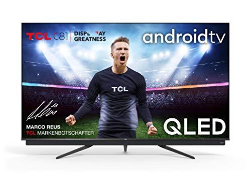 TCL 75C815 - Televisor 75 pulgadas QLED 4K UHD, Android TV, Barra de Sonido Onkyo, Micro Dimming Pro, Google Assistant, Compatible con Alexa