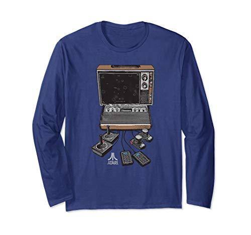 Unisex Atari VCS/2600 Console Long Sleeve Shirt, 4 Colors, S to 2XL