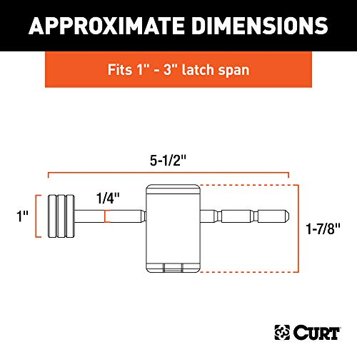 CURT 23503 Right-Angle Trailer Coupler Lock, 1/4-Inch Pin Diameter, Up to 3-Inch Span