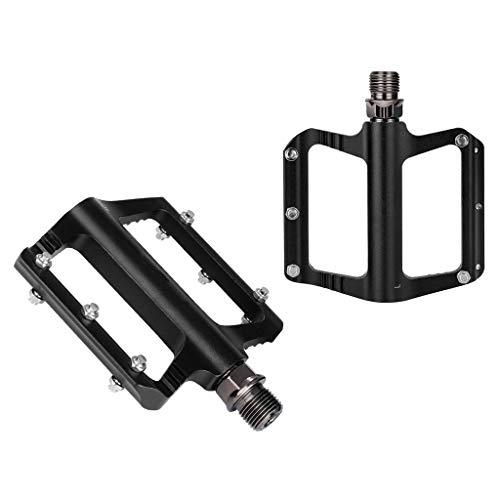 LvTu MTB Ciudad Pedales de Bicicleta Aleación de Aluminio Rodamientos Sellados 14mm Hilo Universal - Negro