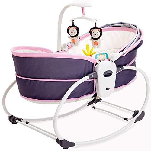 LAZ Cama eléctrica for niños Cama de cuna vibrante Hamacas Cama de cuna for bebé Plegable...