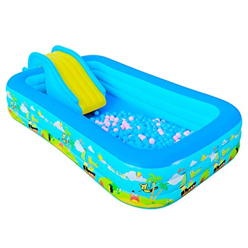 WH SHOP Children Swimming Pool Inflatable Water Slide Toys for Kids, Large Kids Outdoor Rectangular Swimming Pool, Swim Centre Family Lounge Pool - 6 Sizes