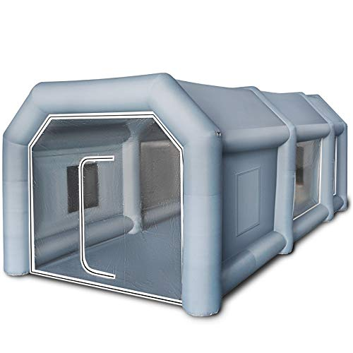 BuoQua Cabina de Pintura Inflable 6 x 3 x 2.5 M Carpa Hinchable para Coche Tienda Inflable Cabina de Estacionamiento de Pintura Tienda Inflable de Campaña Cabina Inflable para Pintar el Coche