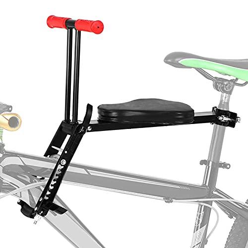 EnweMahi Asiento Infantil Plegable Bicicleta Montaña,Asiento Bebé Delantero Bicicleta con Reposabrazos, Liberación Rápida,Accesorios MTB para Niños Pesen Menos 40 Kg