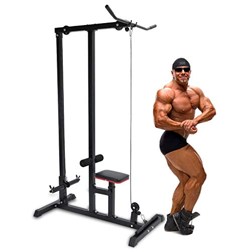 commercial lat pulldown and row machine Home gym upper limb stretcher, lower cable trainer, indoor fitness, cradle, professional arm equipment for aerobic exercise, home sports, stretching, strength training